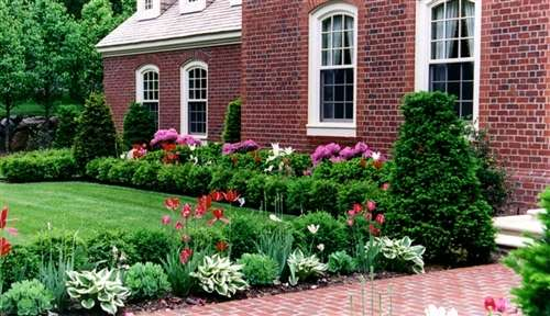 Photo of a Design Portfolio - Formal Landscape Example, Custom Garden Designs.com