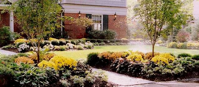 Ideas for landscaping with mums pdf for Landscape design examples