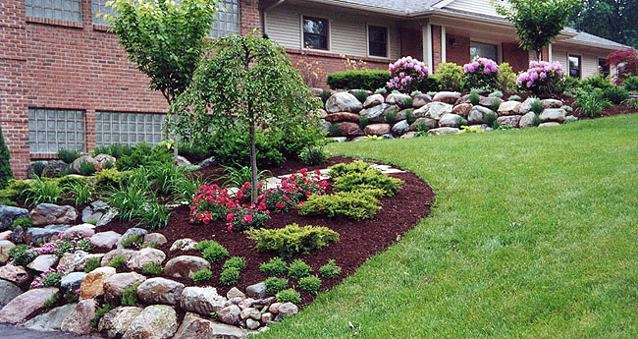Custom garden designs about informal landscaping for Simple landscape plans